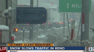 Heavy snow hits Reno-Tahoe area - Video