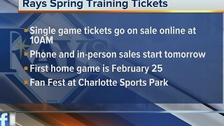 Rays Spring Training Tickets Go On Sale Friday - Video