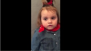 Little girl steals chocolate, blames baby sister