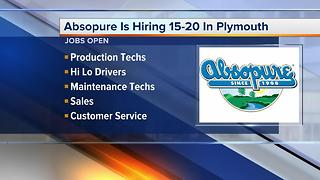 Workers Wanted: Absopure is hiring 15-20 in Plymouth - Video