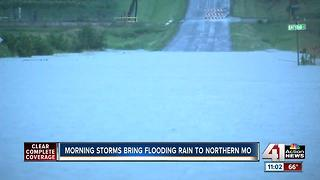 Storms bring flooding, rain to northern Missouri - Video