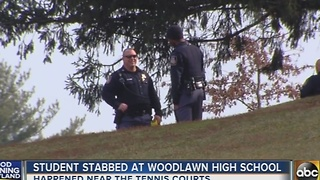 Student stabbed at Woodlawn High School - Video