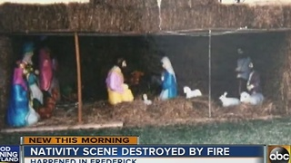 Nativity scene destroyed by fire in Frederick - Video