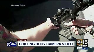 Newly released body camera video shows Buckeye police shooting standoff