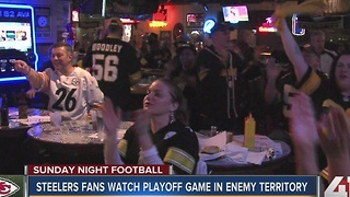 Steelers fans watch playoff game in enemy territory - Video