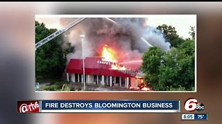 Bloomington flooring business destroyed by fireo - Video