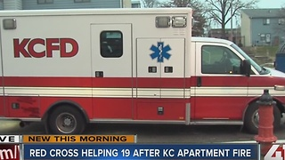 Nineteen displaced in apartment fire - Video