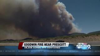 Goodwin Fire: 91 percent contained, 28,508 acres - Video