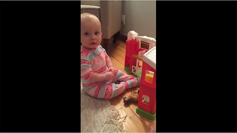 Baby gives epic response to diaper change suggestion