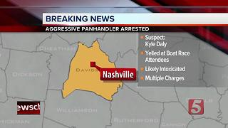 Man Charged With Aggressive Panhandling In Nashville - Video