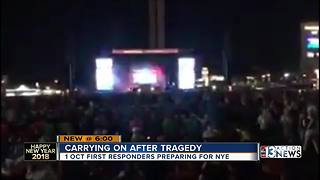 1-October shooting looms over emergency personnel working New Year's Eve - Video