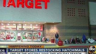 Hatchimal customers line up outside Target - Video