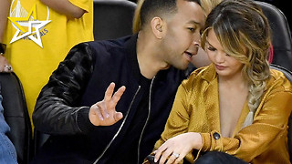 Chrissy Teigen Breastfeeds Her Daughter During Game 1 Of The 2016 NBA Finals - Video