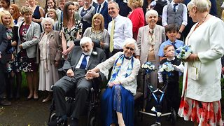 Elderly couple with combined age of 188 become two of the world's oldest newlyweds - Video