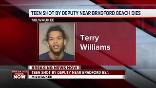 Teen shot by MKE Co. Sheriff's Deputy has died - Video