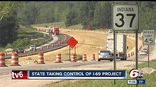 State takes over I-69 project amid constant delays - Video
