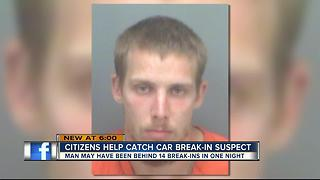 Citizens help catch burglar accused of breaking windows, stealing from cars - Video