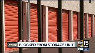 Woman fights back after being blocked from storage unit