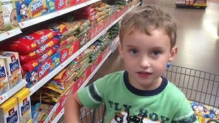 Food Shopping With a 4-Year-Old is Hard - Video