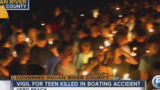 Vigil for teen killed in boating accident - Video