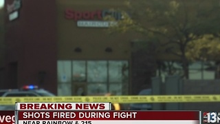 Person possibly pistol-whipped during fight at southwest Las Vegas shopping center - Video