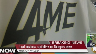 Local Business Capitalizing on Chargers Leave - Video