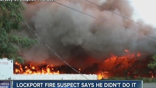 Lockport fire suspect says he didn't do it - Video