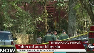 Two-year-old boy and woman hit by train in Zephyrhills - Video