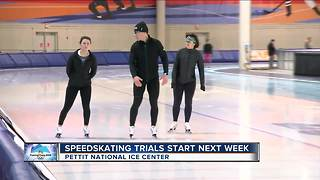 Speed skating trials start next week