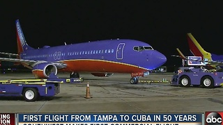 Tampa's first commercial flights to Cuba - Video