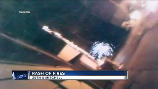 Manhunt underway for possible arson suspects - Video