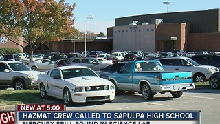 Hazmat Crew Responds To Sapulpa High School - Video