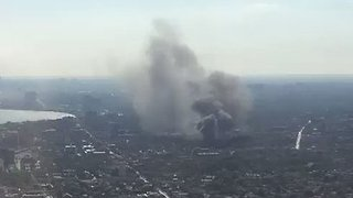 Plumes of Smoke Fill Sky as Toronto House Catches Fire - Video