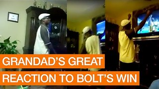 Usain Bolt Himself Would Love This Grandad's Reaction to His Historic Olympic Win - Video