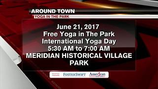Around Town 6/19/17: Free Yoga in The Park