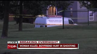 Woman killed, boyfriend hurt in shooting - Video