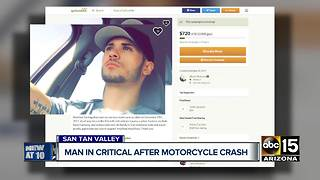 Man in critical condition after motorcycle crash in San Tan Valley - Video