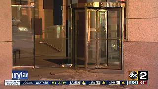 Car crashes into Wells Fargo Bank location in Baltimore - Video