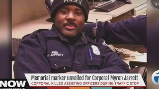 Memorial marker unveiled for Corporal Myron Jarrett - Video