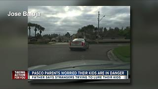 Pasco parents concerned about 'suspicious' Cadillac approaching kids at bus stops - Video