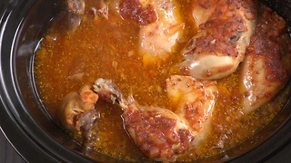 Zesty BBQ Slow Cooker Chicken - Video