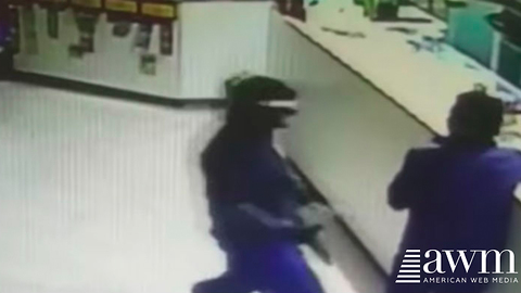 Two Armed Robbers Bust Into Restaurant, Chef Gets The Last Laugh With Massive Knife