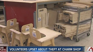 Volunteers upset about theft at CHARM shop