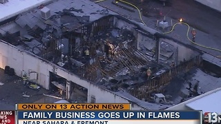 Family business burns weeks after son involved in motorcycle crash - Video
