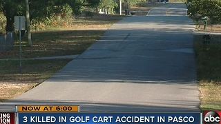 3 killed in golf cart accident in Pasco - Video