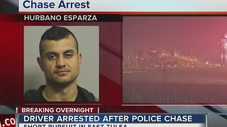 Man arrested after overnight police chase