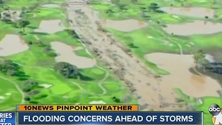 Flooding concerns ahead of storms - Video