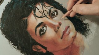 How to draw a Michael Jackson portrait - Video