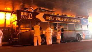 Several Injured After Open-Top Tourist Bus Crashes Into Bridge in Paris - Video