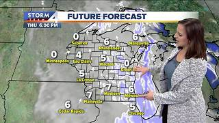 Light snow possible Thursday - Video